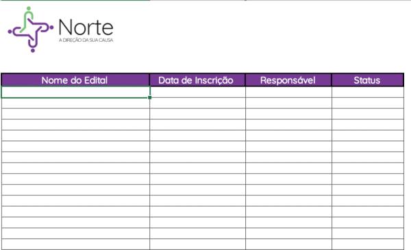Planilha de Controle de Metas de Inscrição em Editais