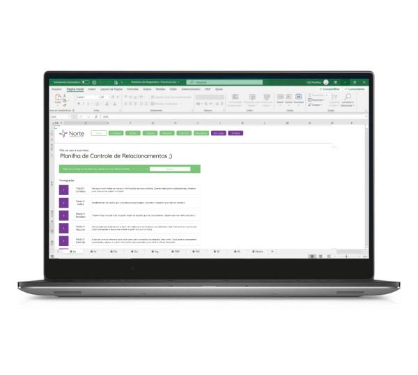 Planilha de Controle de Contatos e Doações em Excel